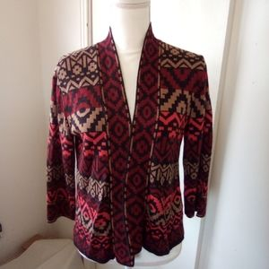 Ruby Rd. Open front cardigan size PS